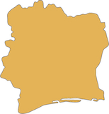 Cote D'Ivoire country outline
