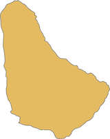 Barbados country outline