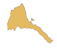 Eritrea country outline