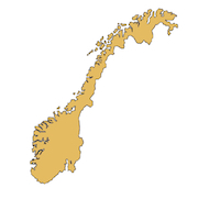 Norway country outline