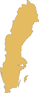 Sweden country outline