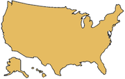 United States country outline