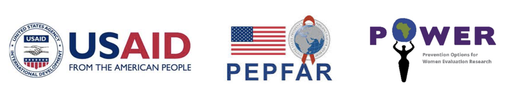 logos for USAID, PEPFAR, and POWER