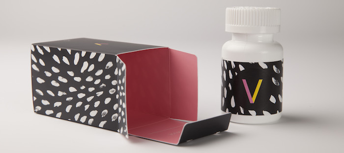 image of stylish packaging for pills