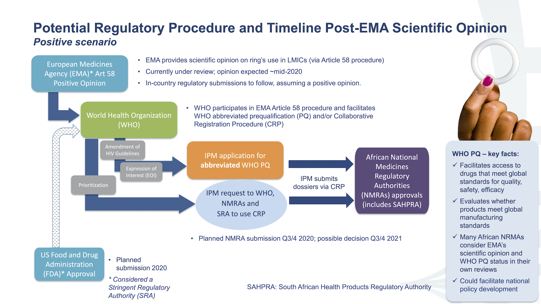 potential regulatory procedure and timeline post-EMA scientific opinion